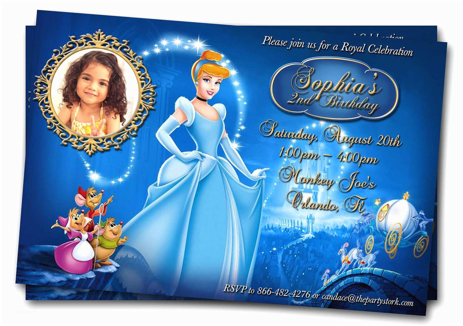 Customized Birthday Invitations Cinderella Invitations Printable Custom Birthday by
