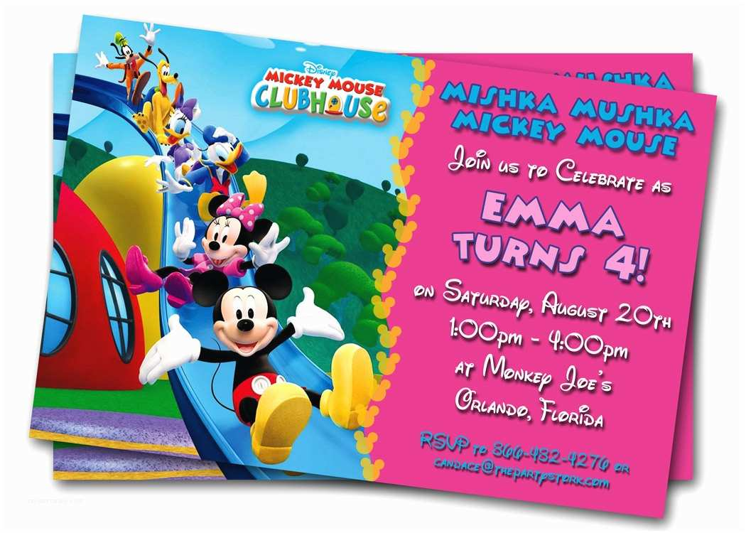 Customized Birthday Invitations Minnie Mouse Printable Custom Kids