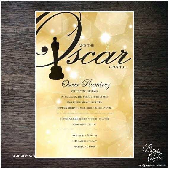 Customized Birthday Invitations Oscar S Custom Birthday Invitation Digital