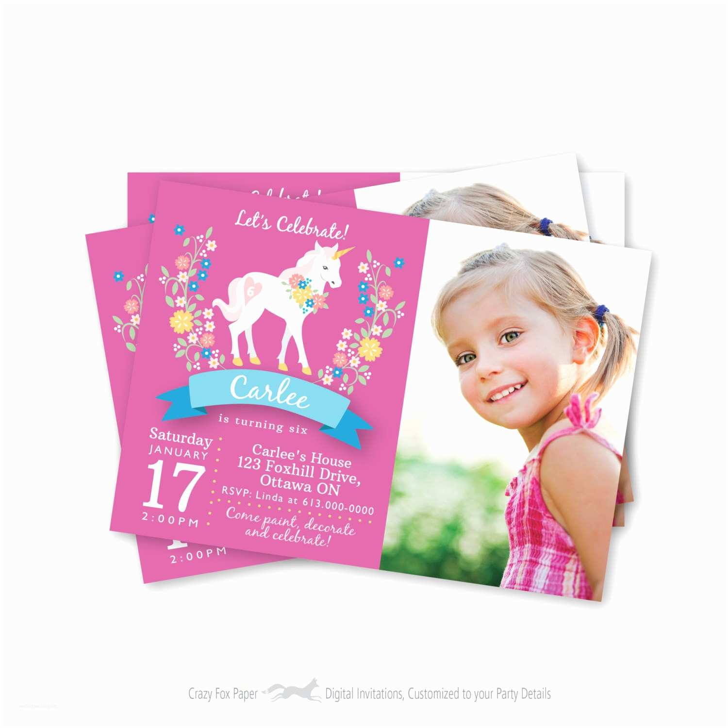 Customized Birthday Invitations Personalized Invitations Matik for