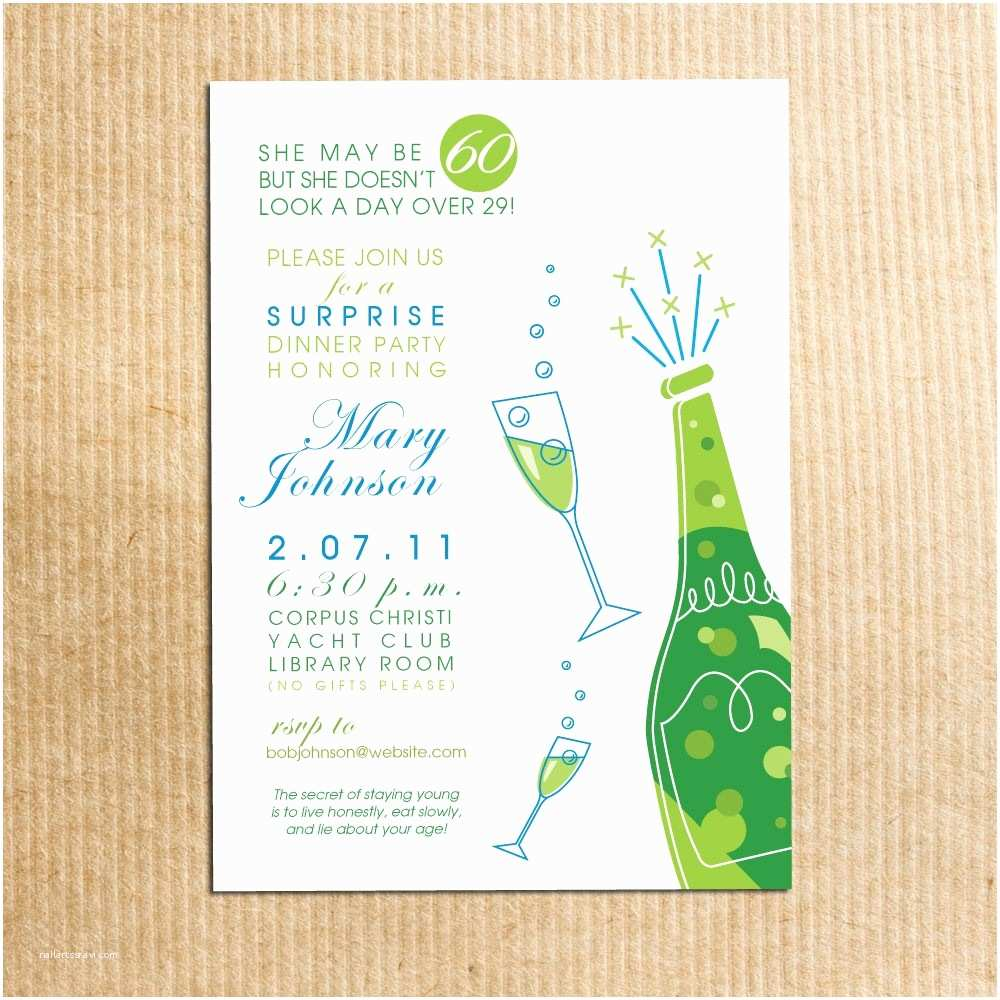 Customized Party Invitations Personalized Birthday Invitations for Adults