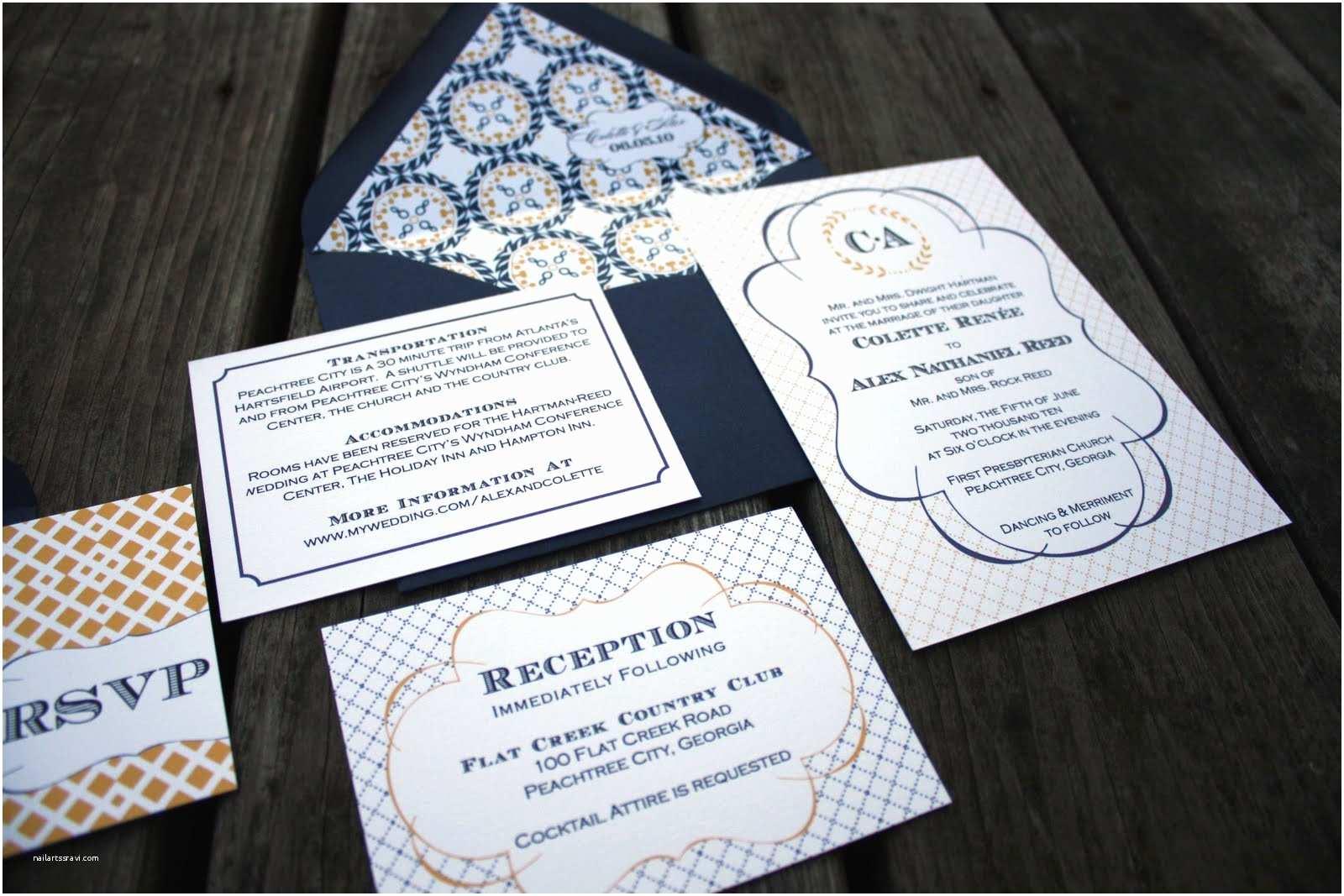 Customized Wedding Invitations Madeline Wedding Invitations by Fourth & Folded the