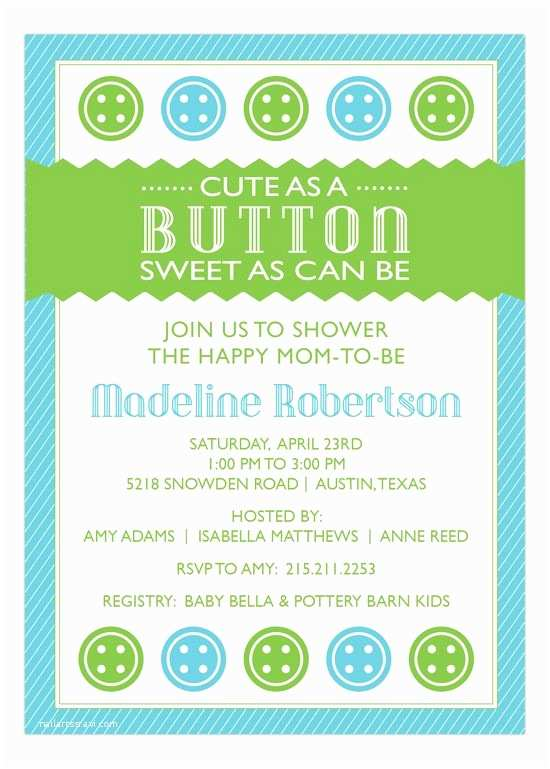 Cute as A button Baby Shower Invitations 36 Best Boy Baby Shower Invitations Images On Pinterest