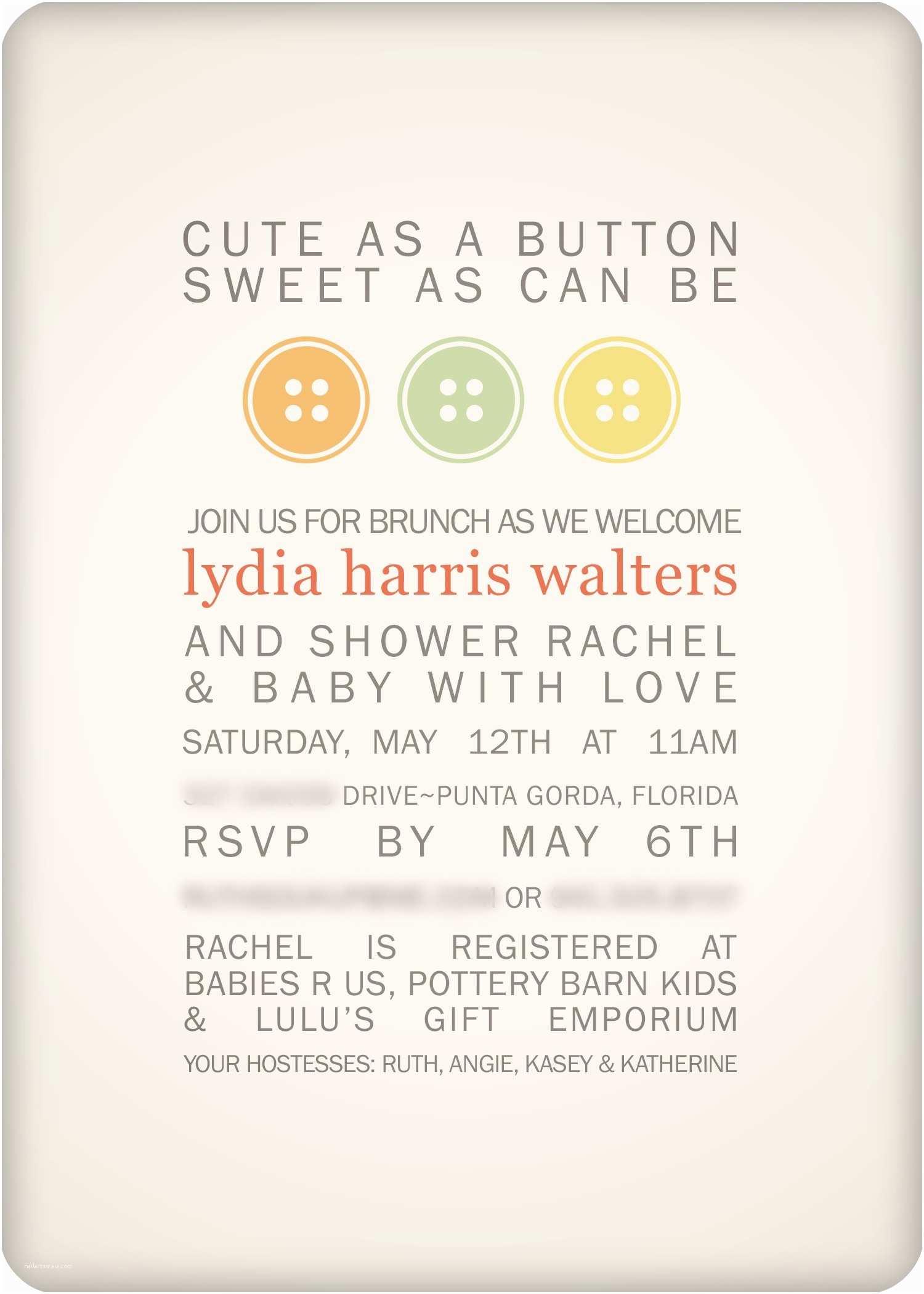 Cute as A button Baby Shower Invitations Baby Shower Invitations Free Printable Cute as A button