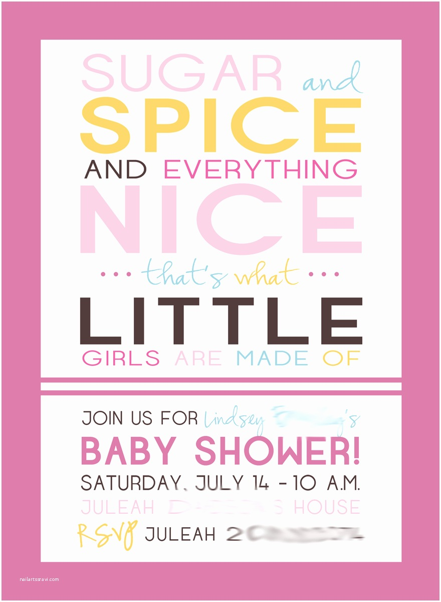 Cute Baby Shower Invitations Cute Baby Shower Invitations for Girls