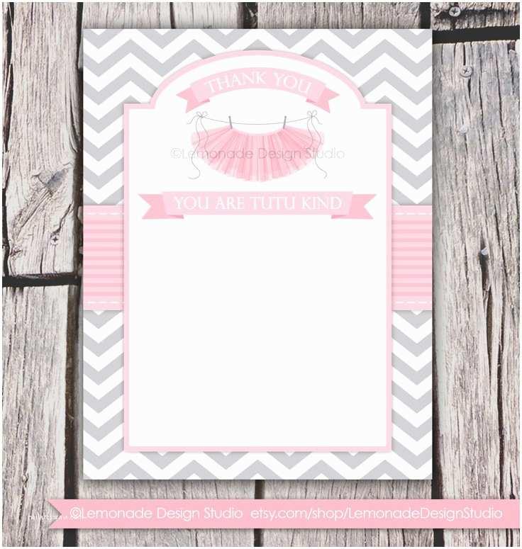 Cute Baby Shower Invitations Tutu Cute Baby Shower Invitation Chevron Pink Grey