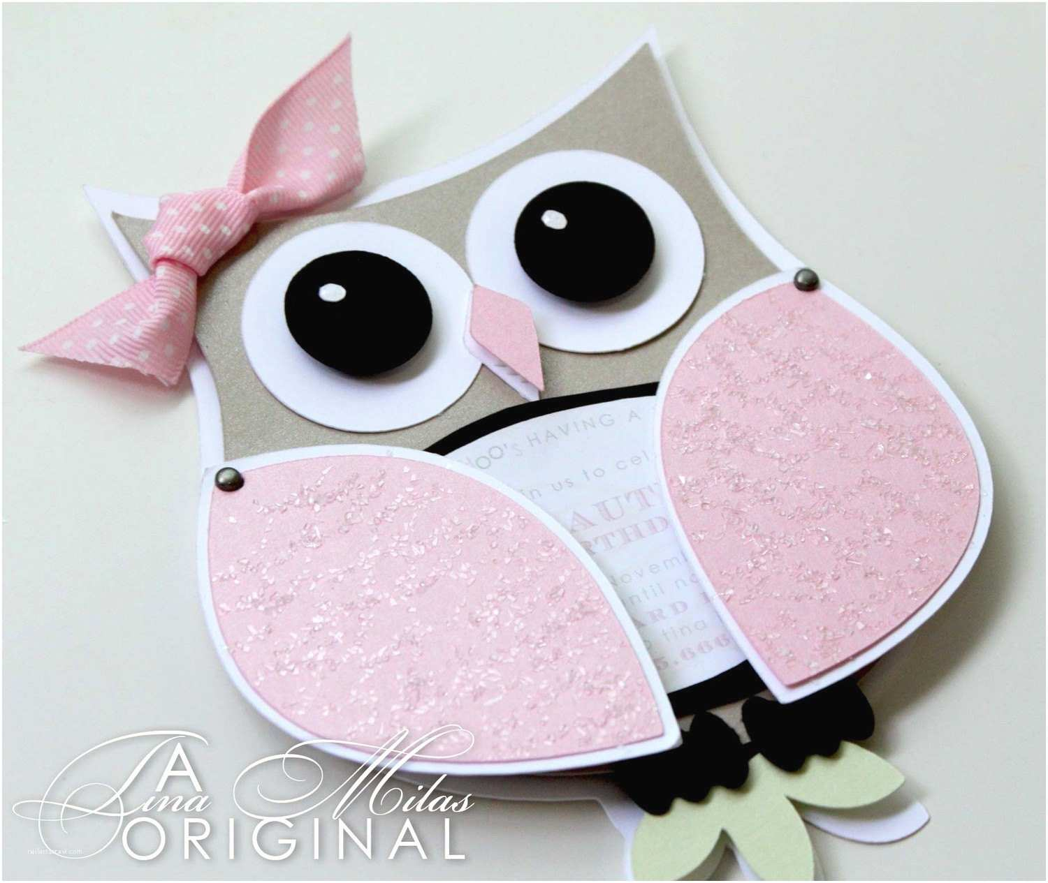 Cute Birthday Invitations 3d Owl Birthday Invitations