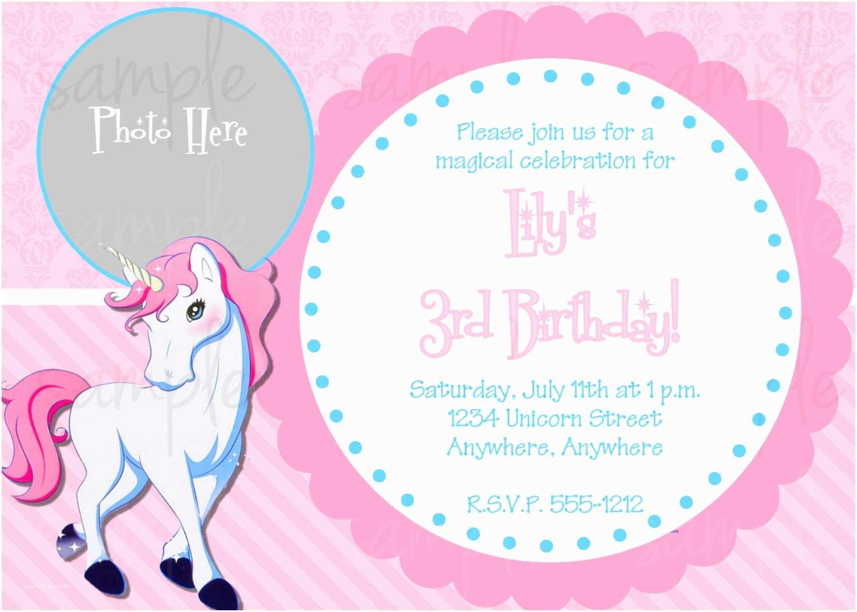 Cute Birthday Invitations Invites 10 Unicorn For