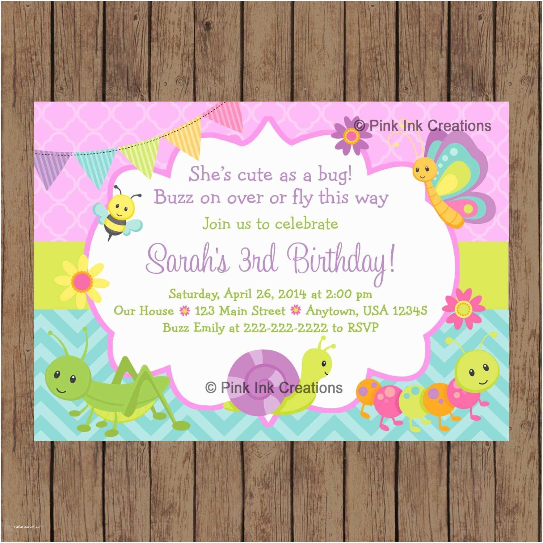 Cute Birthday Invitations Cute as A Bug Birthday Invitation Garden Birthday Invitation