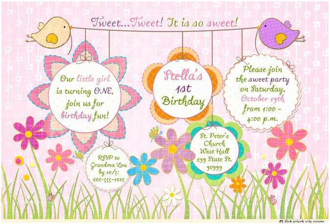 Cute Birthday Invitations Cute Birthday Invitations