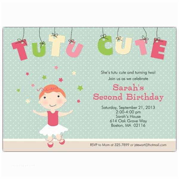 Cute Birthday Invitations Tutu Cute Redhead Birthday Invitations