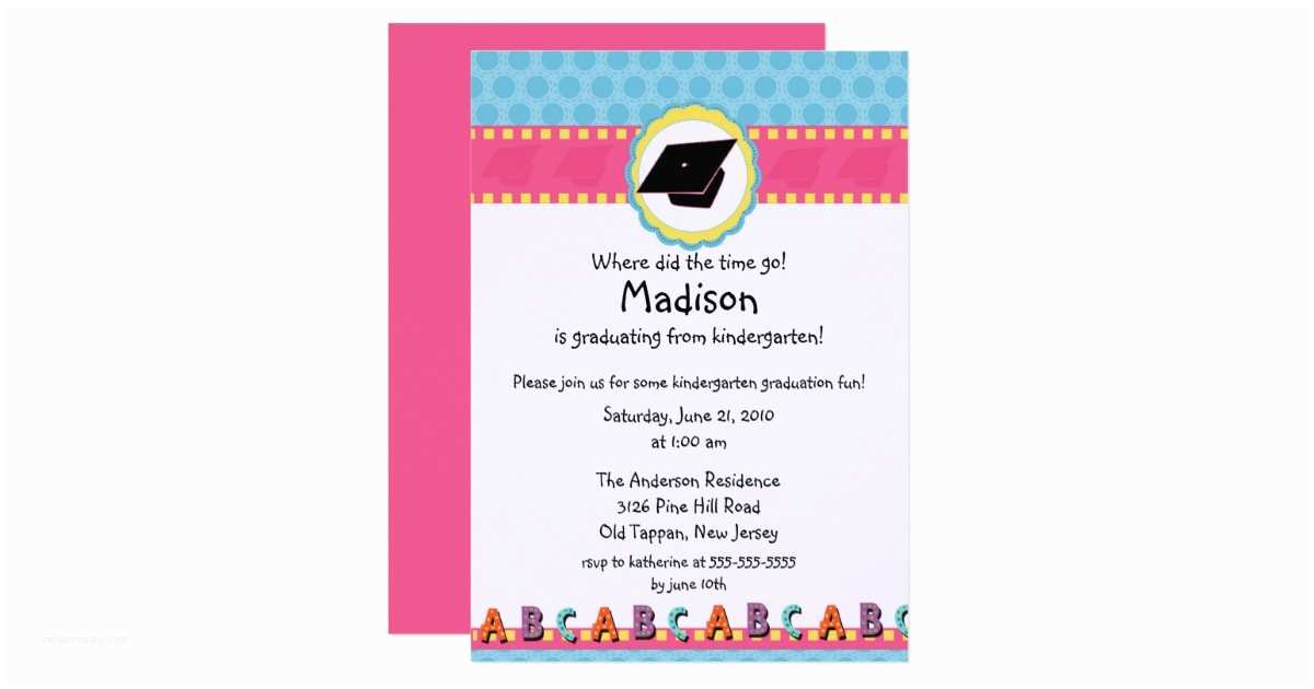 Cute graduation invitations cute pink girls kindergarten graduation cute graduation invitations cute pink girls kindergarten graduation invitation filmwisefo