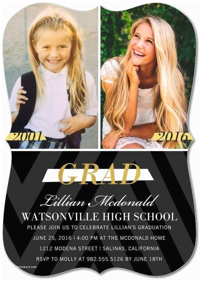Cute Graduation Invitations Time Flies Celebrate Every Fleeting Moment with A