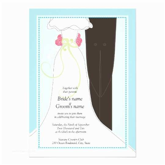 Cute Stamps for Wedding Invitations Cute Bride and Groom Wedding Invitations