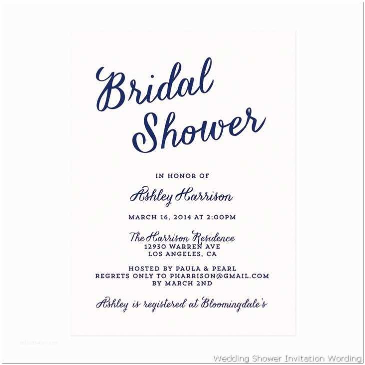 Cute Wedding Invitation Wording Cute Wedding Shower Invitation Wording