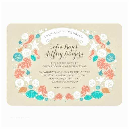cute beach wedding invitations announcement