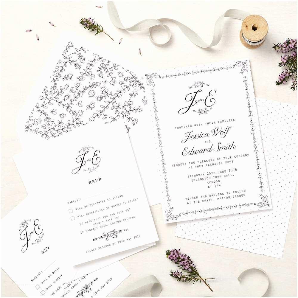 Daisy Wedding Invitations Daisy Chain Invitation
