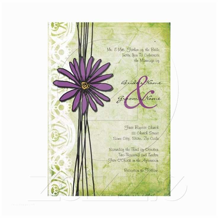Daisy Wedding  Vintage Purple And Green Daisy Wedding