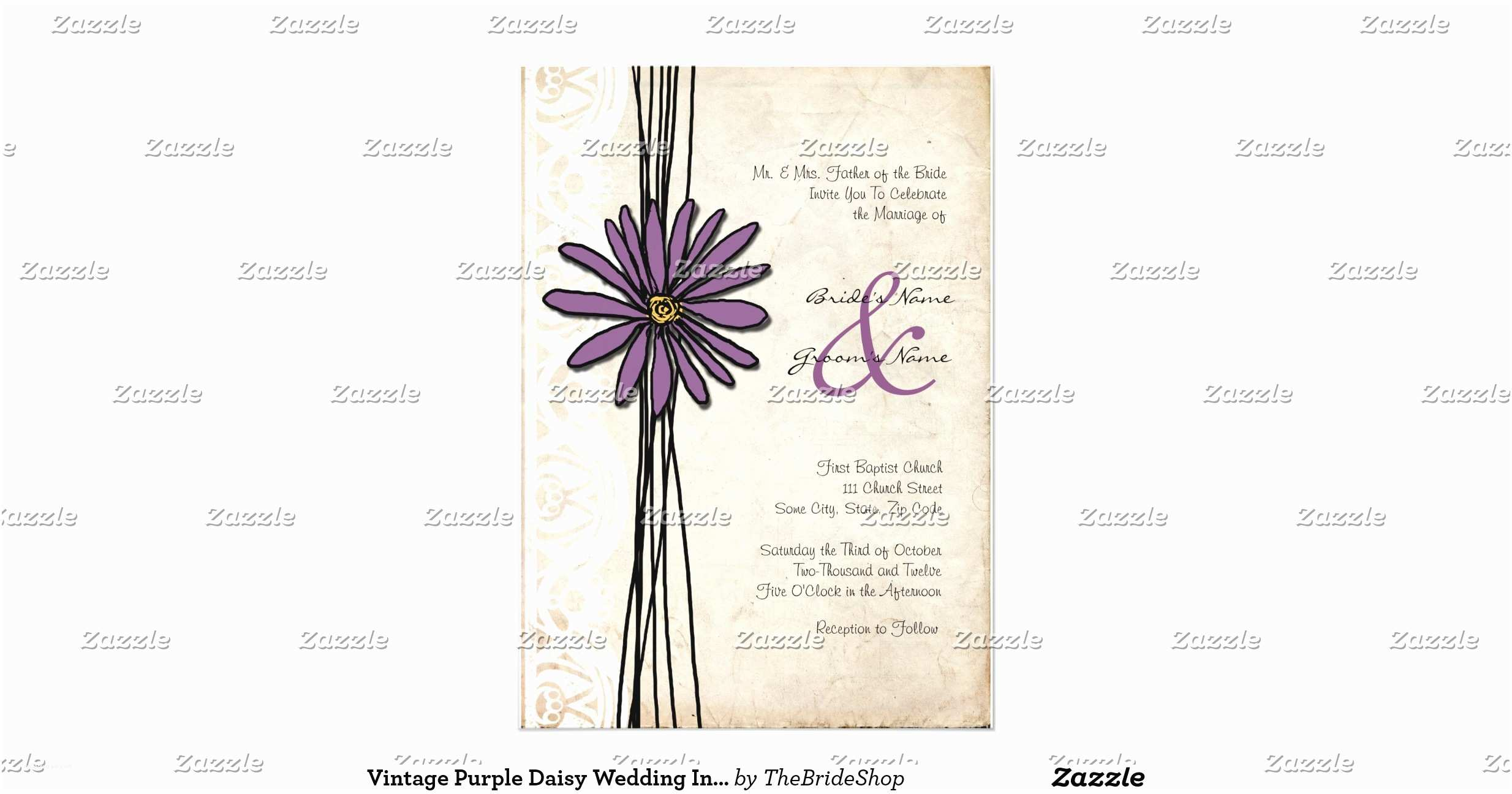 Daisy Wedding  Vintage Purple Daisy Wedding