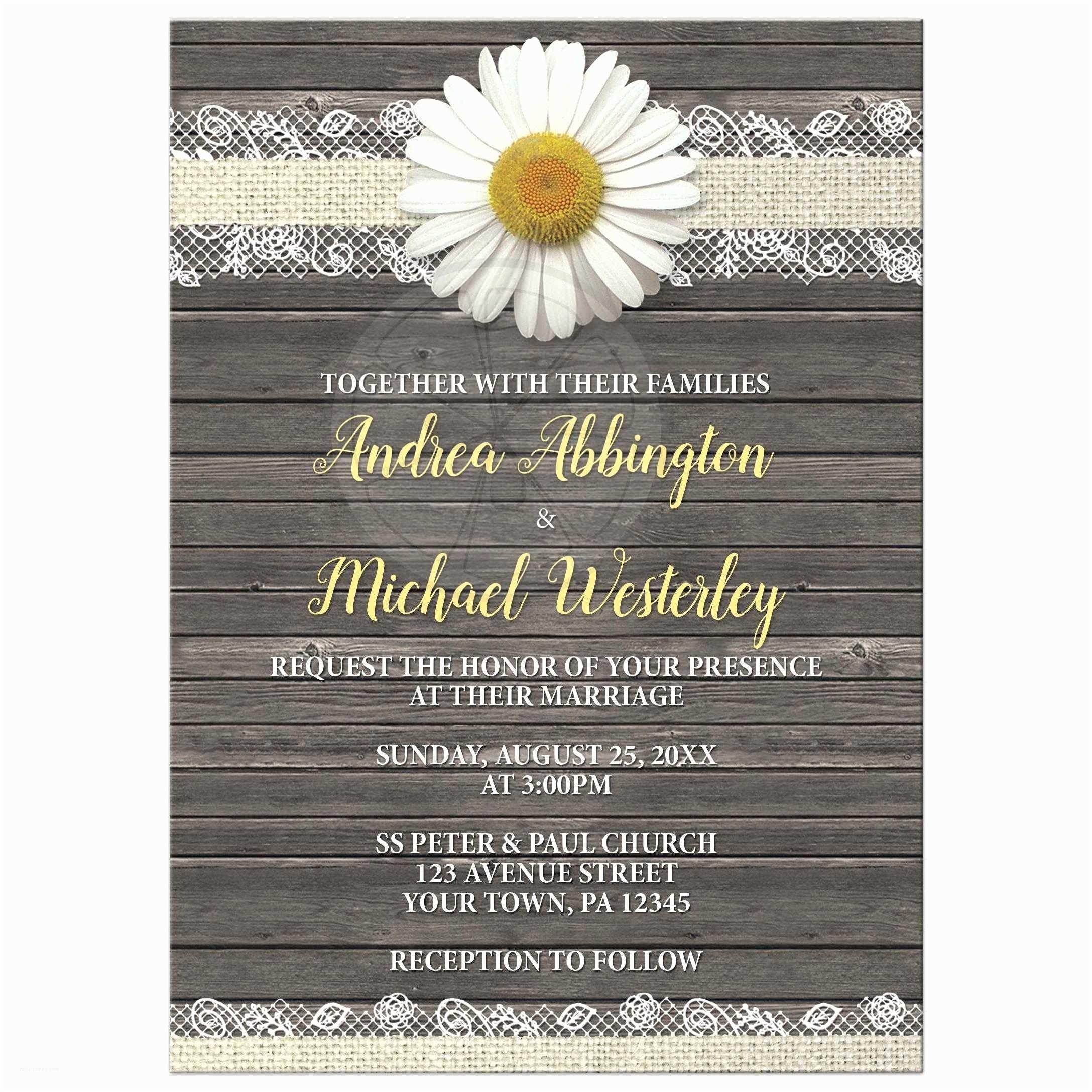 Daisy Wedding Invitations Wedding Invitations Daisy Burlap And Lace