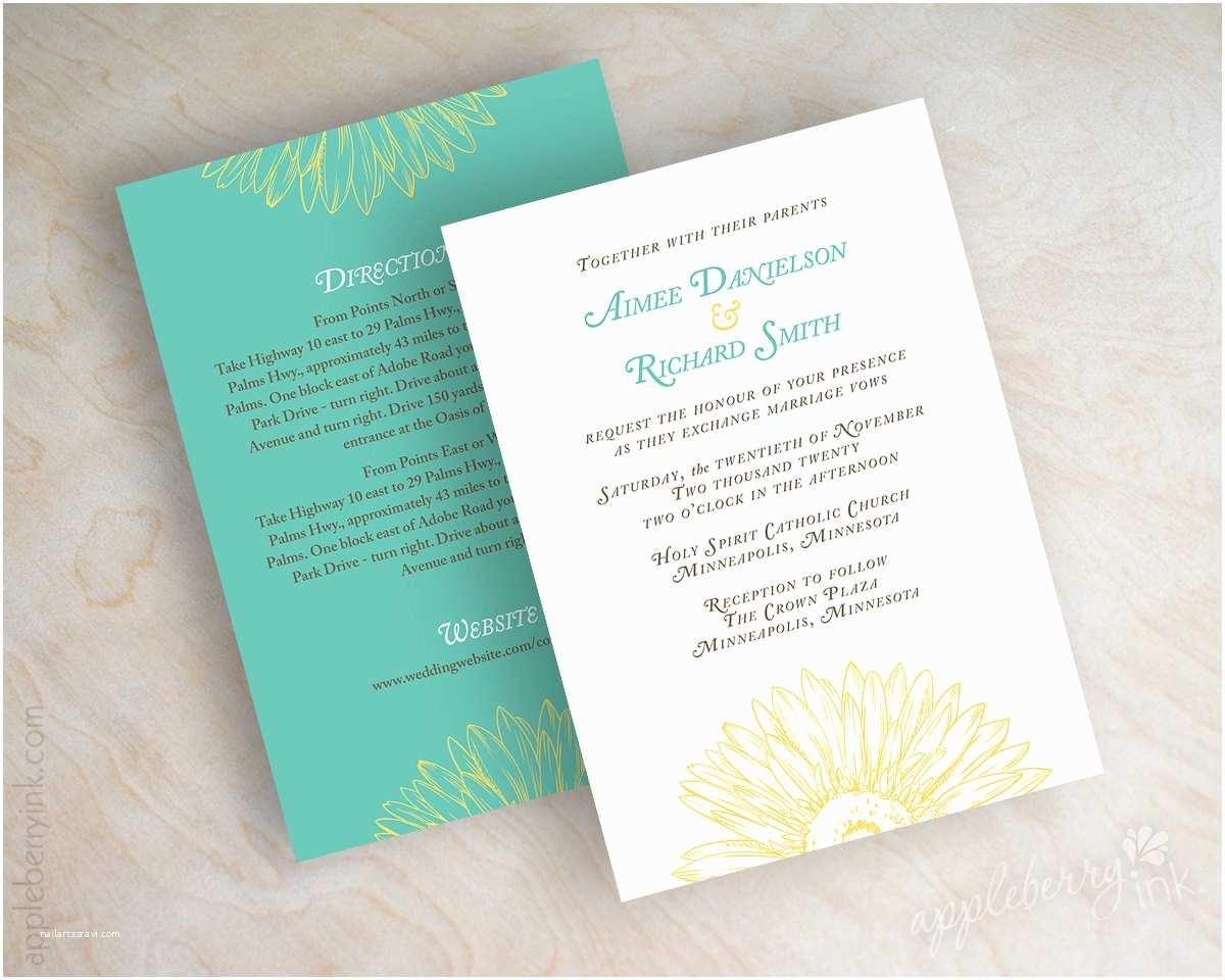 Daisy Wedding Invitations Wedding Invitations Gerbera Daisy Sketch Wedding by