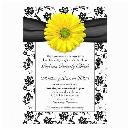 Daisy Wedding S Yellow Daisy Black White Floral Wedding