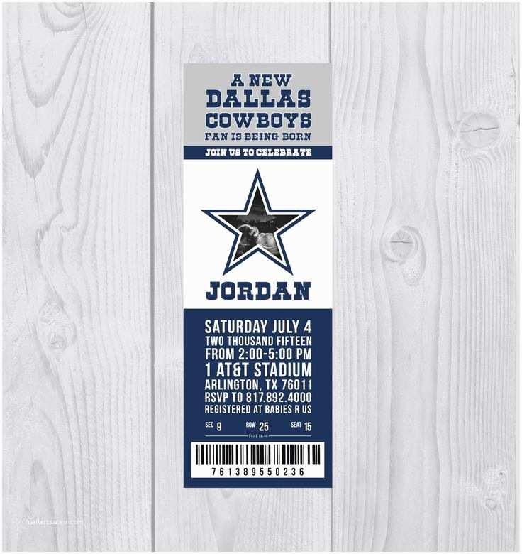 Dallas Cowboys Baby Shower Invitations 42 Best Dallas Cowboys Football Baby Shower Images On