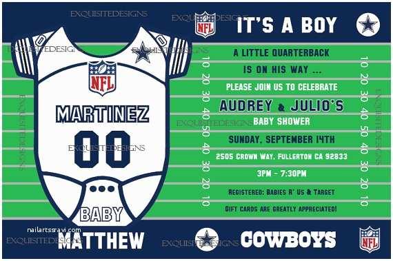 Dallas Cowboys Baby Shower Invitations Dallas Cowboys Baby Shower Invitation
