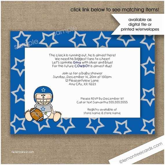 dallas cowboys baby shower invitations