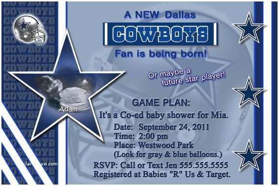 Dallas Cowboys Baby Shower Invitations Dallas Cowboys Baby Shower Invitations