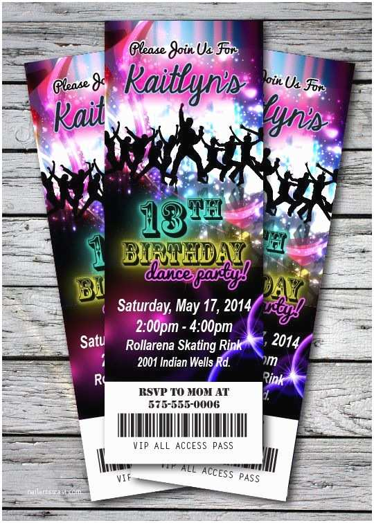 Dance Party Invitations 25 Best Ideas About Neon Party Invitations On Pinterest