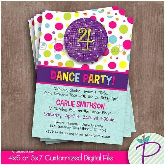 Dance Party Invitations Dance Party Invitation Dance Birthday Party Printable