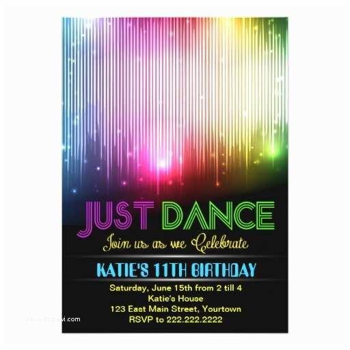 Dance Party Invitations Disco Just Dance Party Invitation