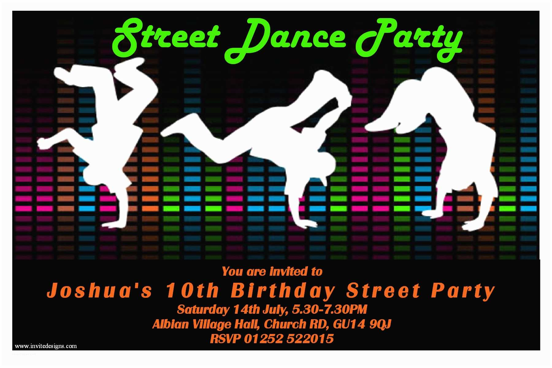 Dance Party Invitations Free Printable Birthday Invitations for Adult