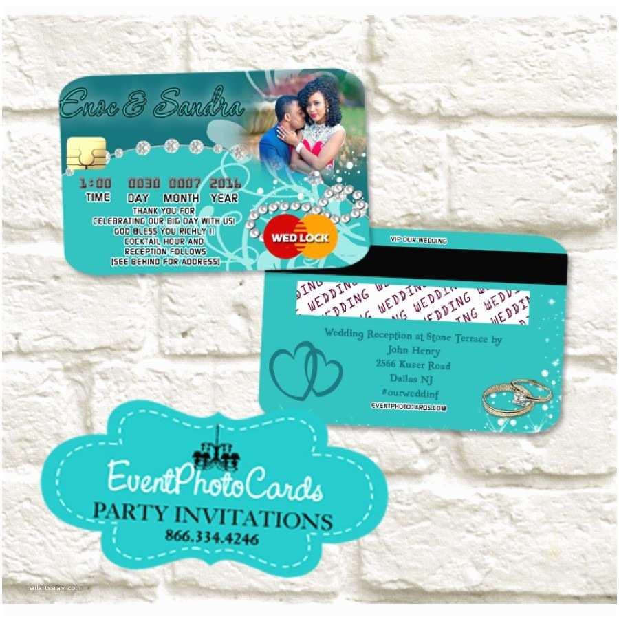 Dark Green Wedding Invitations Wedding Credit Card Teal Green Invitations Verde