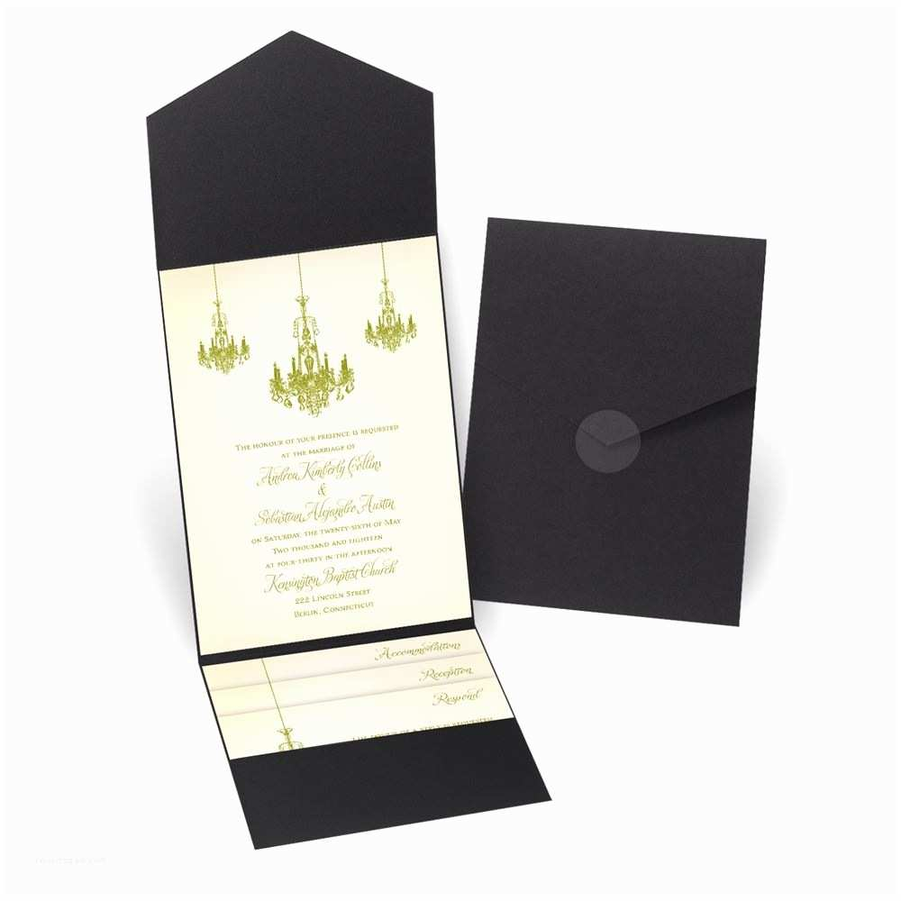 David Tutera Wedding Invitations Ballroom Beauty Pocket Invitation