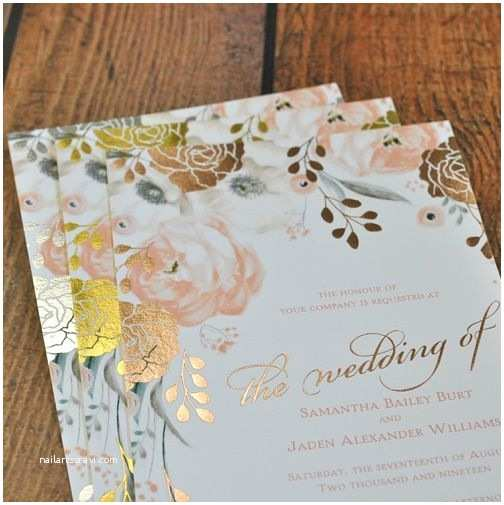 David Tutera Wedding Invitations David Tutera Invitations Foil Stamped Wedding