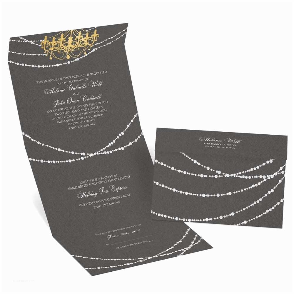David Tutera Wedding Invitations Mood Lighting Seal and Send Invitation
