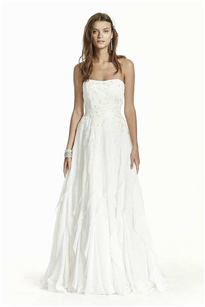 David's Bridal Wedding Invitations David S Bridal Strapless A Line Chiffon Wedding Dress with