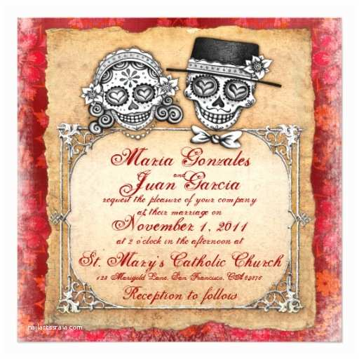 Day Of the Dead Wedding Invitations Day Of the Dead Wedding Invitations