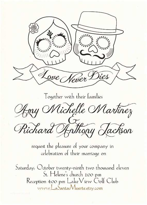 Day Of the Dead Wedding Invitations Day Of the Dead Wedding Invitations Personalized