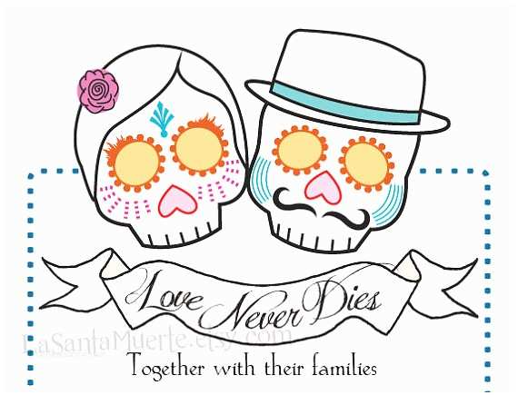 Day Of the Dead Wedding Invitations Items Similar to Day Of the Dead Wedding Invitations On Etsy