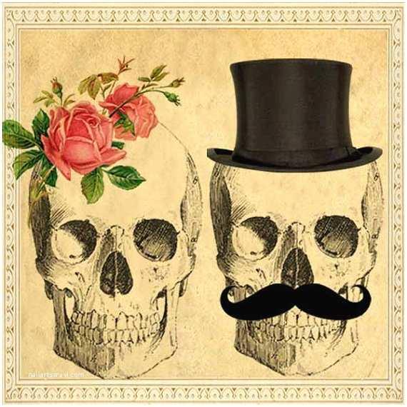 Day Of the Dead Wedding Invitations Sepia Printable Diy Wedding Invitation Suite Digital
