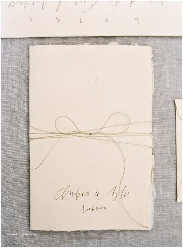 Deckle Edge Paper Wedding Invitations A Delicate Tuscan Inspired Outdoor Wedding Ce Wed