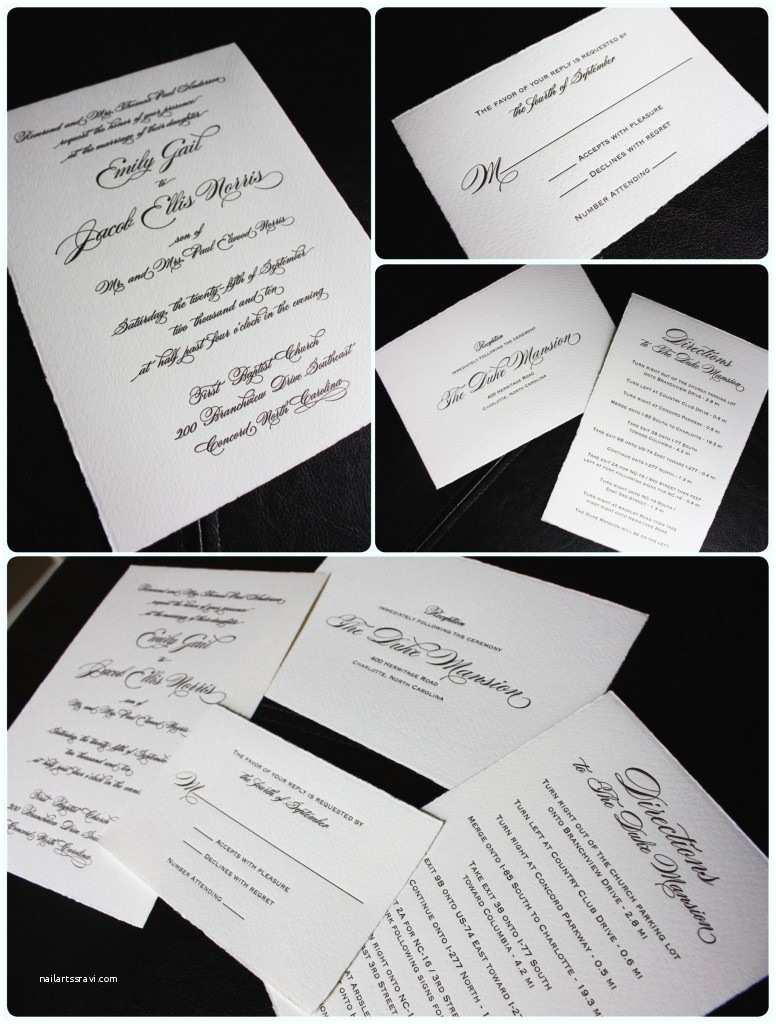 Deckle Edge Paper Wedding Invitations Chocolate & Cream Deckled Edge Wedding Invitations