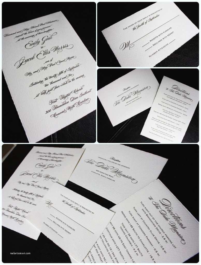 Deckle Edge Paper Wedding Invitations Chocolate & Cream Deckled Edge Wedding Invitations