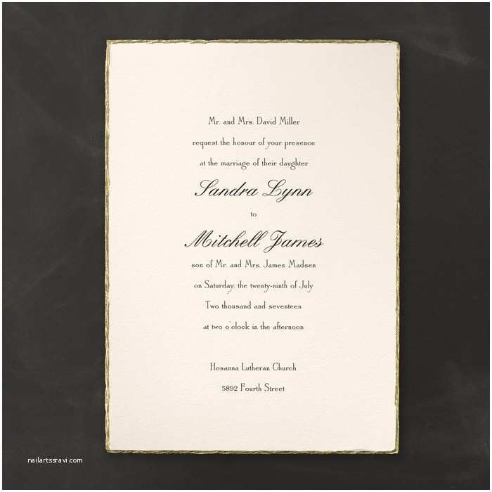 Deckle Edge Paper Wedding Invitations Deckle Edge Invitations Little Flamingo