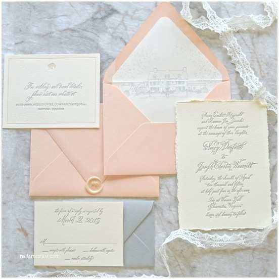 Deckle Edge Paper Wedding Invitations Deckle Edge Wedding Invitations Cobypic
