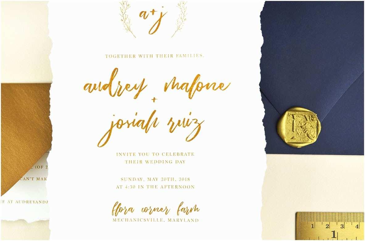 Deckle Edge Paper Wedding Invitations Diy Deckled Edge Paper Wedding Invitations Cards