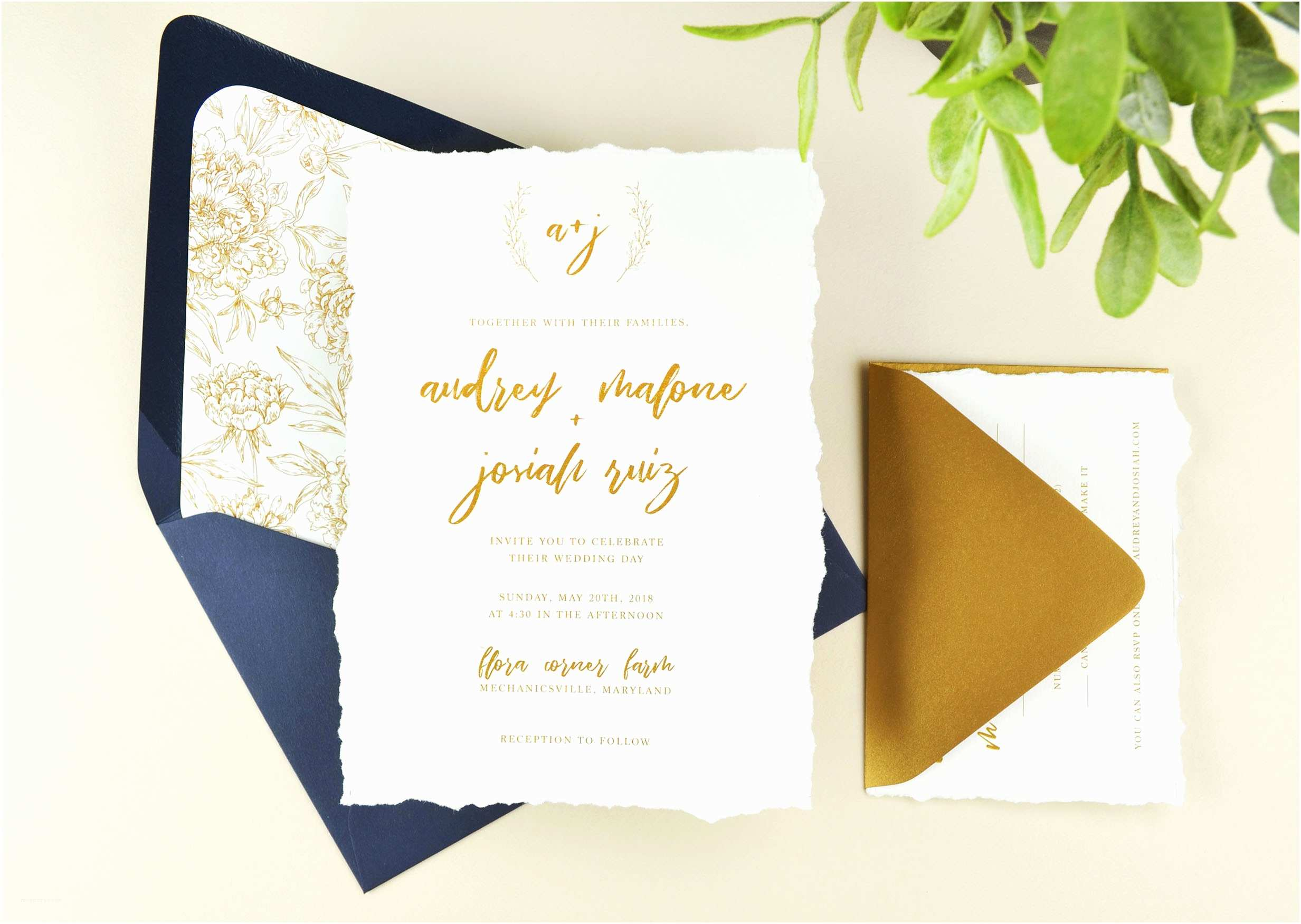 Deckle Edge Paper Wedding Invitations Diy Deckled Edge Paper Wedding Invitations Cards